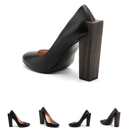 Block pump high sorte pumps fra United Nude, hos Lille Vinkel Sko